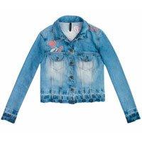 Jaqueta Jeans Com Lavação E Bordado