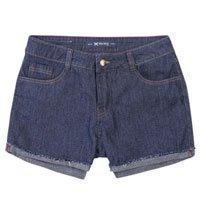Shorts Jeans Feminino Hering Slim Com Lavação