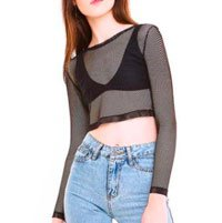 top transparente cropped
