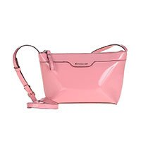 Bolsa Shoulder Bag Verniz Rosa - M