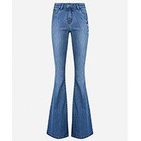 Calça Jeans Flare Bordado