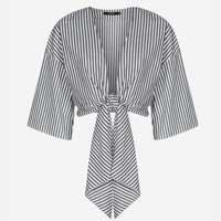 Camisa Curta Com Amarração