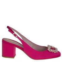 Sapato Chanel Cetim Rosa
