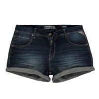 Shorts Jeans Feminino Barra Dobrada
