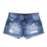 Shorts Feminino Hering Em Jeans Com Desgastes