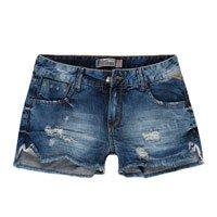 Shorts Jeans Feminino Desfiado Barra