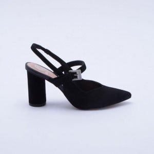Sapato Chanel Nobuck Preto