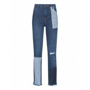 Calça Jeans Slim Recortes