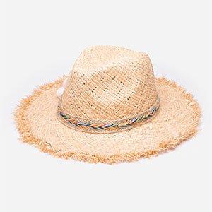 Chapéu De Palha Com Pompom