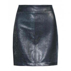 Saia Leather Metalizada Prata