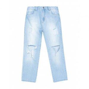 Calça Jeans Reta Hiper Destroyed