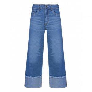 Calça Jeans Pantacourt Barra