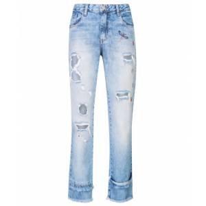 Calça Jeans Reta Bordado