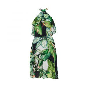 Vestido Soft Chiffon Fresh Leaves - 44
