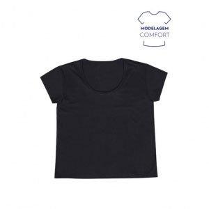 Blusa Feminina Básica Com Modelagem Body Size Em Algodão