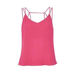 Top Silky Crepe Tiras Pink - 36
