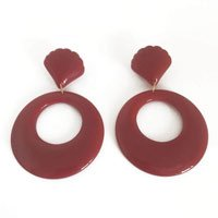 Brinco Acrylic Round Red Tamanho: U - Cor: Vermelho