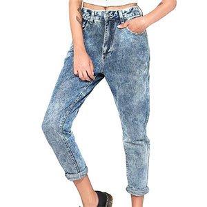 Calça Jeans Mom Acid Tamanho: 42 - Cor: Azul