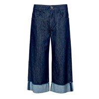 Calça Jeans Cropped Barra Dobra - 36
