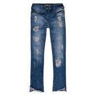 Calça Jeans Feminina Cropped Barra Irregular