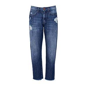 Calça Jeans Mom Barra Desfiada - 36