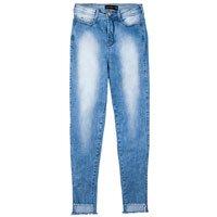 Calça Jeans Na Base Los Angeles Com Barra Assimétrica Desfiada