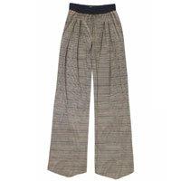 Calça Pantalona Em Malha De Viscose E Fio Metalizado