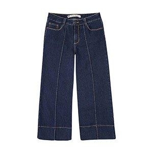 Calça Jeans Feminina Pantacourt Hering Com Lavação Escura