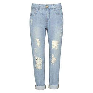 Calça Boyfriend Jeans Puidos - 38