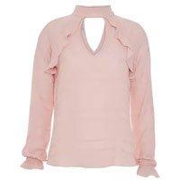 Camisa Manga Longa Silky Plisse - 36