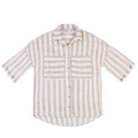 Camisa Feminina Em Tecido De Viscose E Poliéster Com Modelagem Ampla