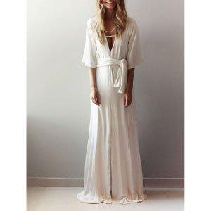 Vestido Veneza Tamanho: 44 - Cor: Off White