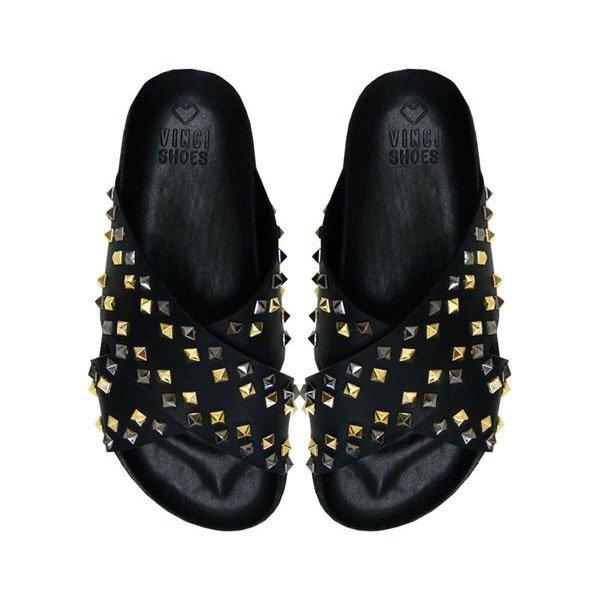Flat Emma Studded Black Tamanho: 39 - Cor: Preto