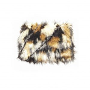 Clutch Animal Print Faux