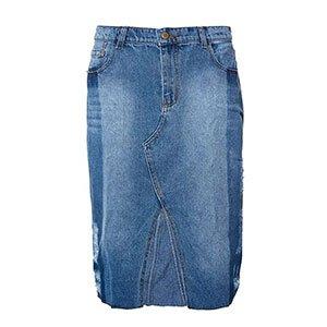 Saia Lápis Jeans Midi