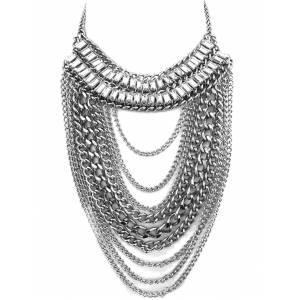 Maxi Colar Chain Pedraria