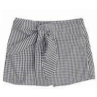 Shorts Em Tecido De Algodão Com Sobreposição Xadrez Vichy - Brigitte Edition