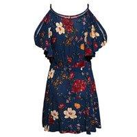 Vestido Open Shoulder Floral
