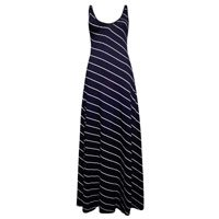 Vestido Longo Costas Abertas Listra Diagonal