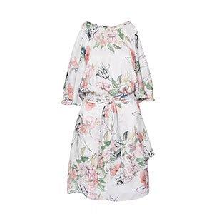 Vestido Satin Soft Floral - 38
