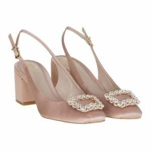 Sapato Chanel Cetim Areia