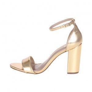Sandália Metalizada Ouro