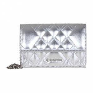 Bolsa Clutch Metalizada Prata