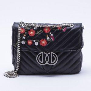 Bolsa Shoulder Bag Bordada Preta - M