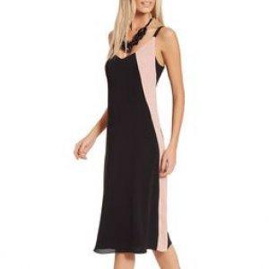 Vestido Bicolor Recortes - 36