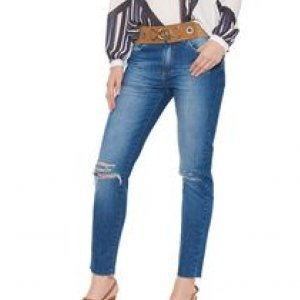 Calça Jeans Skinny Puido - 36