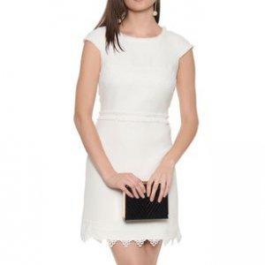 Vestido Tweed Blanc Guipure - 44
