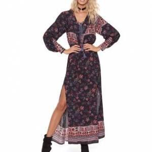 Vestido Chalis Midnight Floral - 36