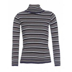 Suéter Feminino Listrado Rib