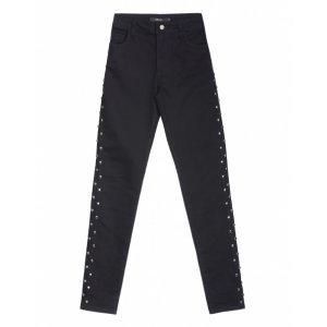 Calça Jeans Feminina Skinny Tachas